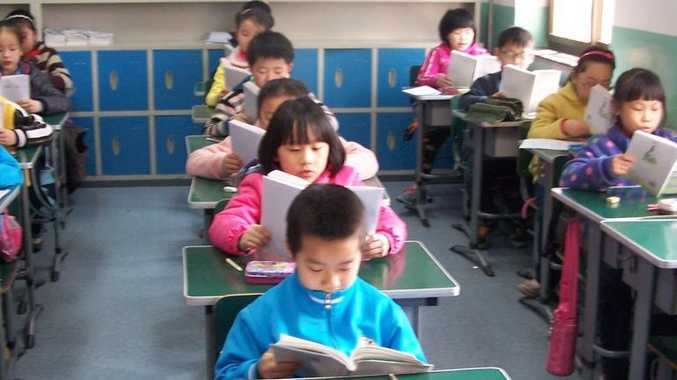 Students at Tianjin University Primary School in China which is the new sister school for three catholic primary schools.