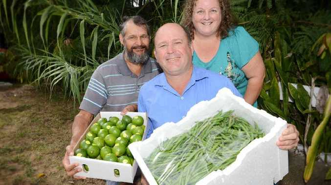 Fruit and vegetable stewards Chris and Marianne Wyllie with Martin Wilson are urging growers to enter the show.