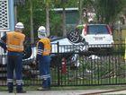 CRASH SITE: The scene of the crash on Glebe Rd.