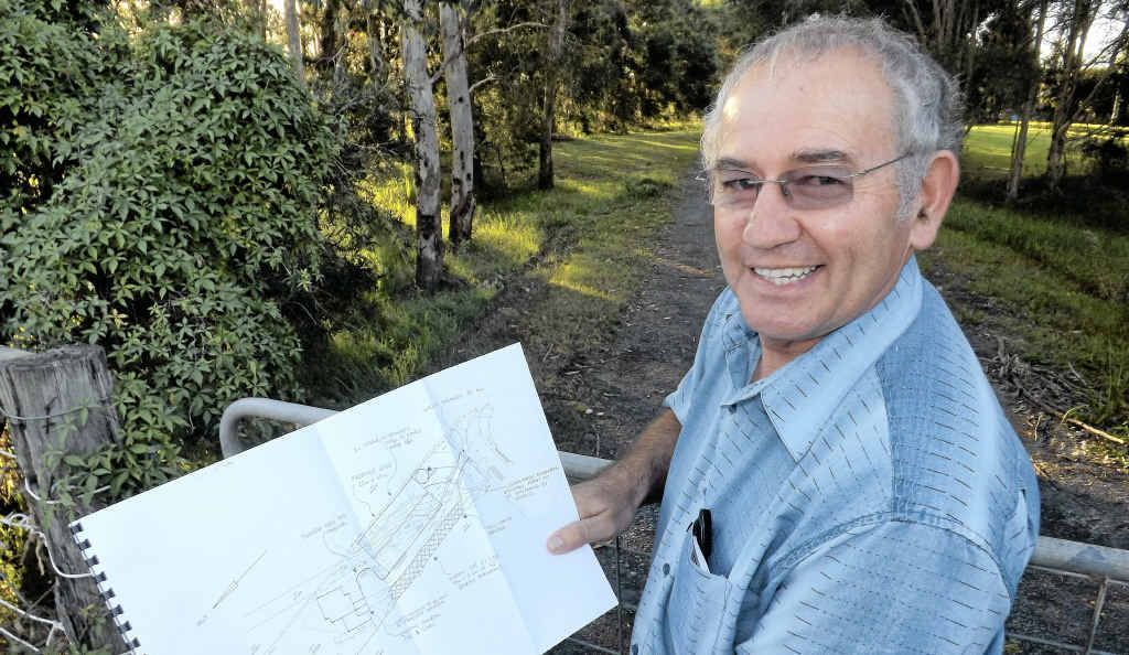 HELP, PLEASE: Ballina Men's Shed team leader Graham Eggins at the site of the new shed on Fishery Creek Rd, West Ballina.