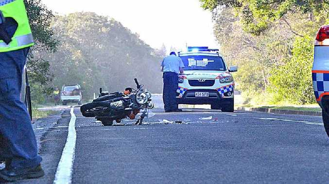 Police at the scene of the crash at Ocean Dr, Mudjimba