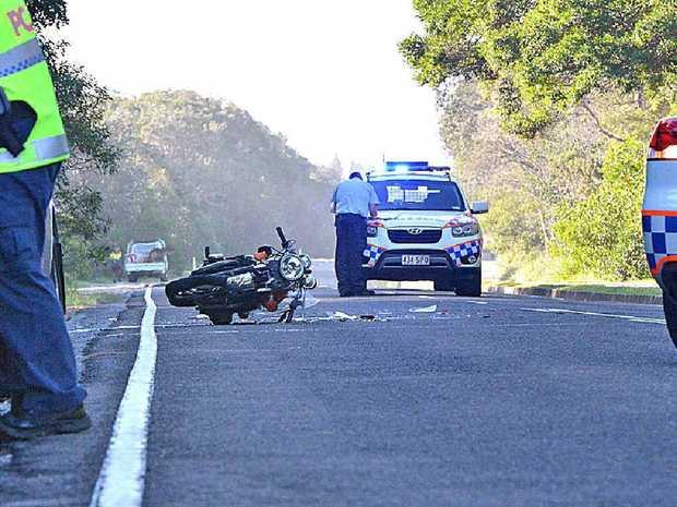 Police at the scene of the crash at Ocean Dr, Mudjimba