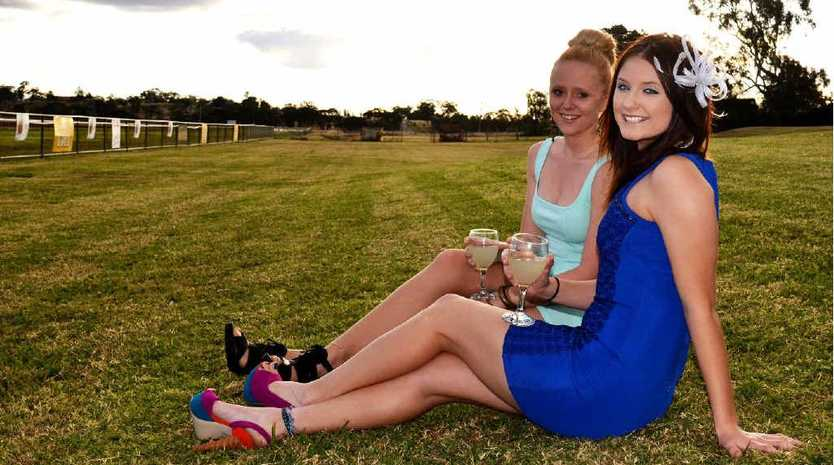 Rachel Jones and Mikayla Pratt are excited to get glammed up for a day out at the races on Saturday.