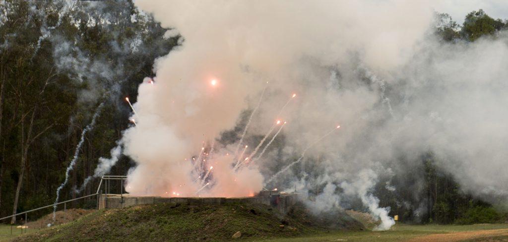 Helidon explosives range