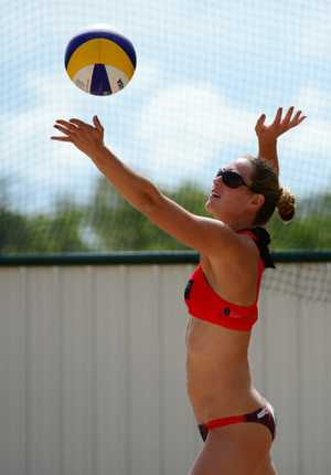 Jordan Mowen will be partnering her sister Justine in this weekend's Fraser Coast Regional Beach Volleyball Invitational at Seafront Oval.