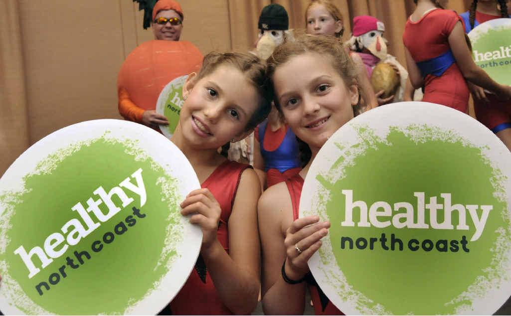 Lalika Blaser and Rosa Mordaunt promote the Healthy North Coast hub.