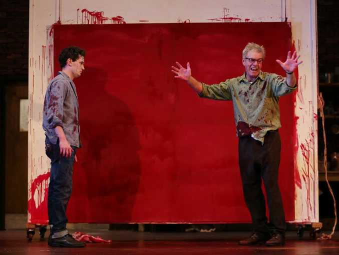 Colin Friels and his assistant in the play Red.