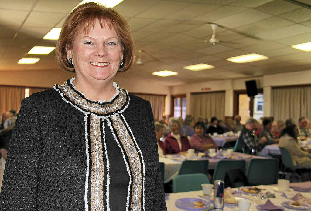 Lowleen Buchner was the guest speaker at the Leukaemia Foundation's Lavender Day morning tea yesterday.