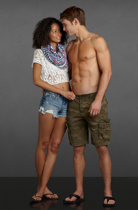 An image from the Abercrombie & Fitch website.