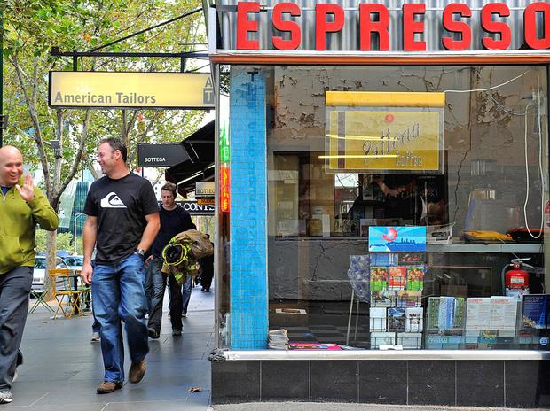 Pellegrini's Espresso Bar is part of Melbourne's expanding coffee-house scene.