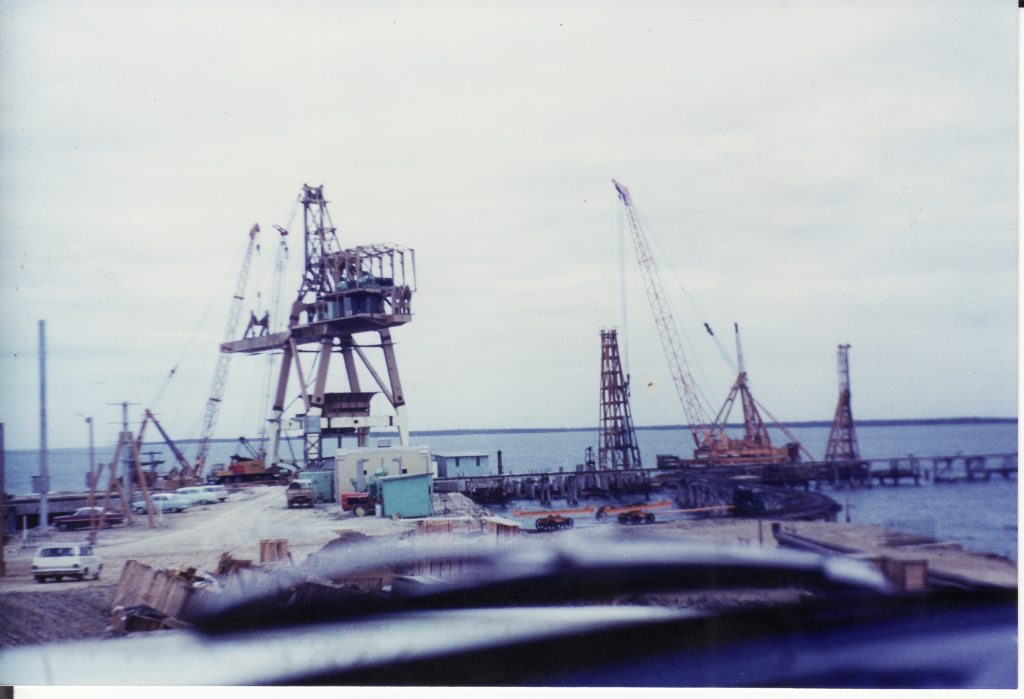 THEN: QAL Wharf under construction 1960s