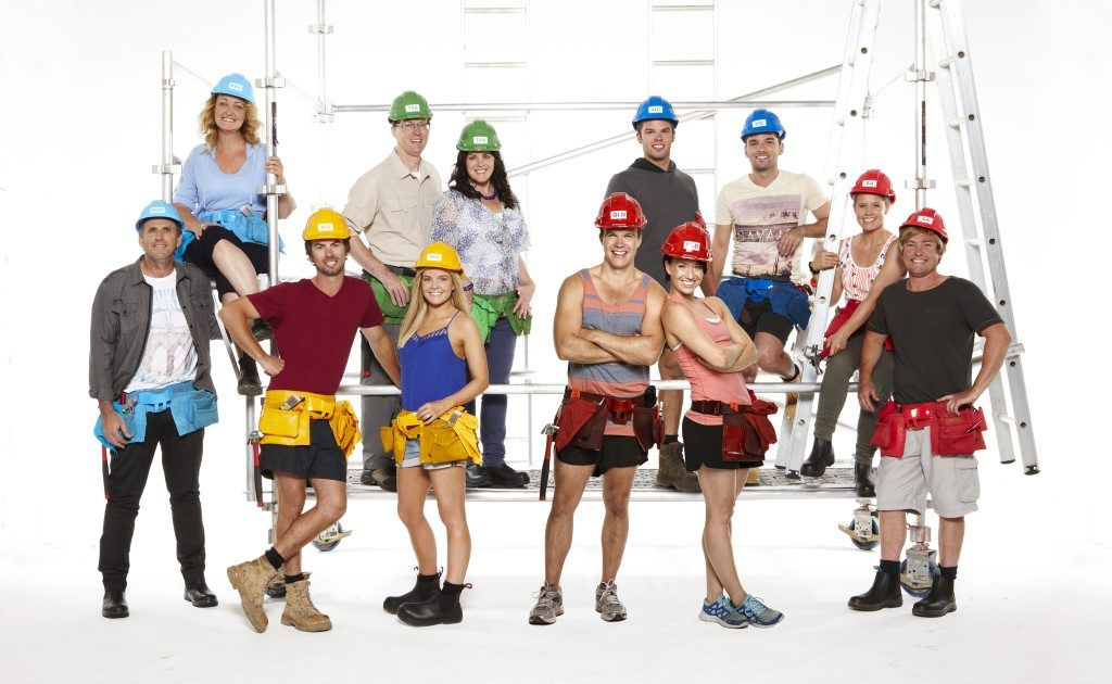 The teams in Channel 7's new show House Rules.