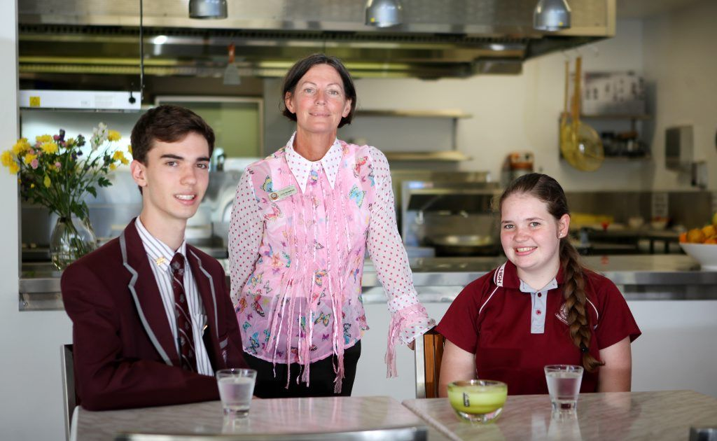 North Rockhampton High principal Judi Newman with students Thomas Illott and Alisha Weber. Photo Allan Reinikka / The Morning Bulletin