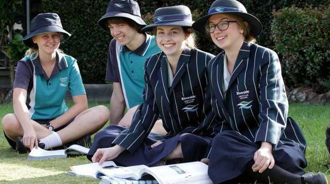 Riverside Christian College students (from left) Lucy Kinbacher, Jesse Shilvock-Lutze, Kiandra Sobczaz and Felicity Holder plan to go to university.