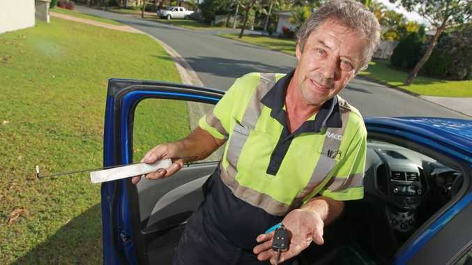 Kerry Gardner from RACQ Maroochydore has been kept busy helping customers who have locked their keys in their car. In just one week 1000 people needed to be rescued state-wide.