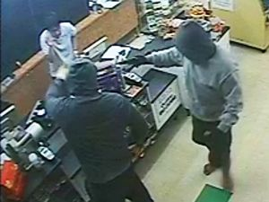 Police hunt two after terrifying armed robbery