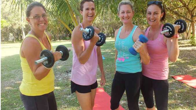 Rainbow Beach mothers Marni Robertson, Rebecca Duggan, Dee White and Ann Moroney are lining up for this year's Tough Mudder Challenge at Caloundra.