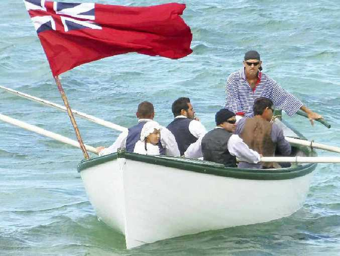 Emily Bay is the centre of the March 6 re-enactment of the British arrival to begin a convict colony.