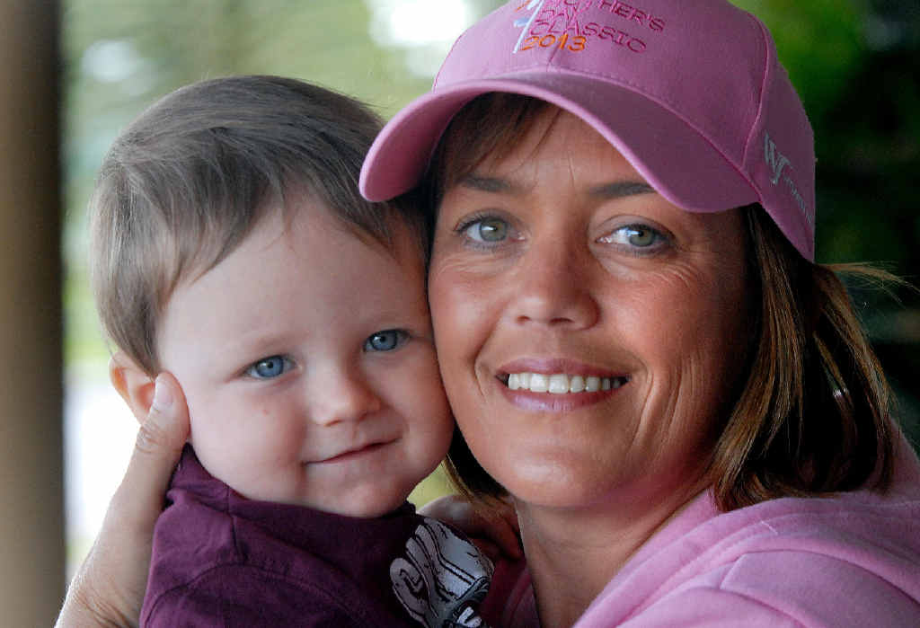 Raelene Wells and her son Riley will celebrate Mother's Day at the Mother's Day Classic Walk in the Botanic Gardens today.