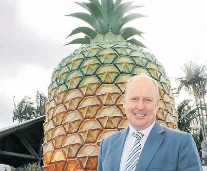 Ross Greenwood at The Big Pineapple for the Sunshine Coast Business Expo. Photo: Erle Levey