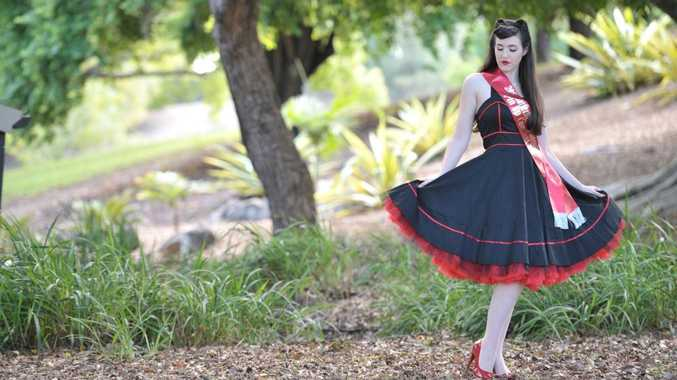 Louise Geoghegan won the recent Garter Belts and Gasoline Pin-Up Pageant at Tamborine.