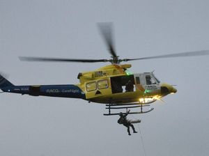 CareFlight picks up seriously ill crewman off carrier