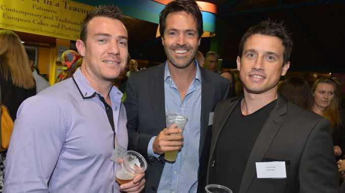 Busines Expo cocktail party at the Big Pineapple. Marcus Johnson, Brad Davies and Adam King. Photo: John McCutcheon / Sunshine Coast Daily