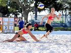 Fraser Coast Regional Beach Volleyball Invitational - Women's final - Winners, Natasha Chaplin and Rebecca Matheson.