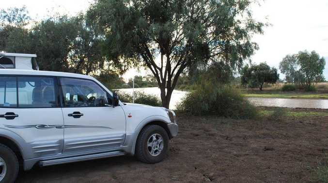 Alan and Christine Betteridge spent two nights at Winton, free camping on the banks of the Long Waterhole, 4km south of the town.