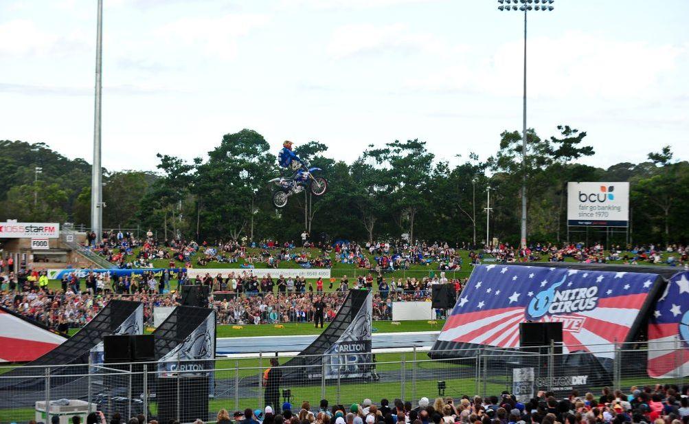 High flying action from Nitro Circus at BCU International Stadium.