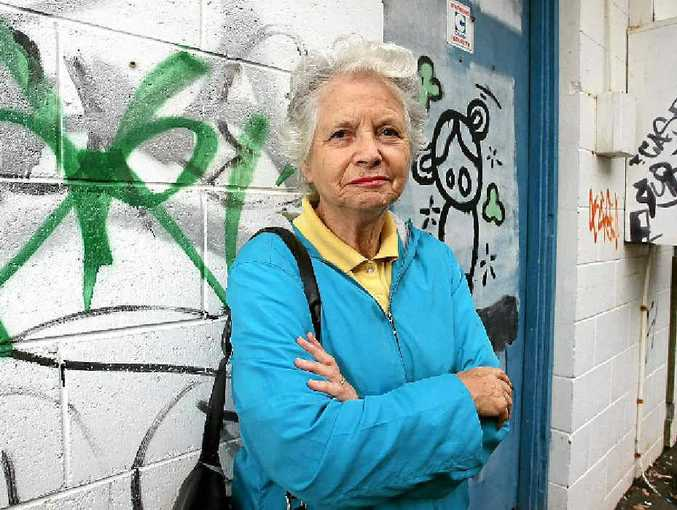 Resident June Laws is angry about the graffiti around Caloundra.