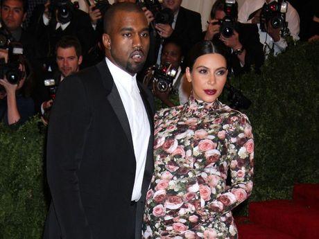 Kanye West with Kim Kardashian.