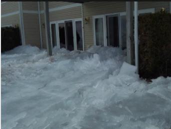 An advancing glacier in Minnesota.