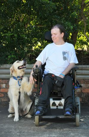 Adam Griffiths suffers from muscular dystrophy and has his companion dog Rocky to help him live life.