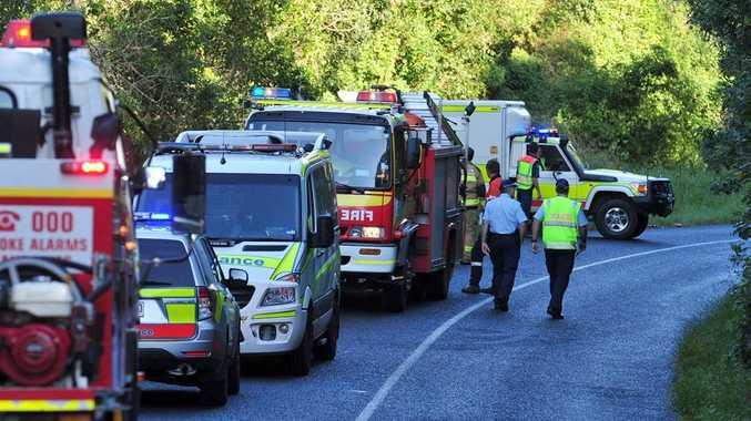 The crash scene at Ridgewood.