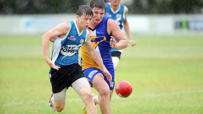 Hervey Bay AFL - Bay Power versus ATW Across the Waves - Photo: Valerie Horton / Fraser Coast Chronicle