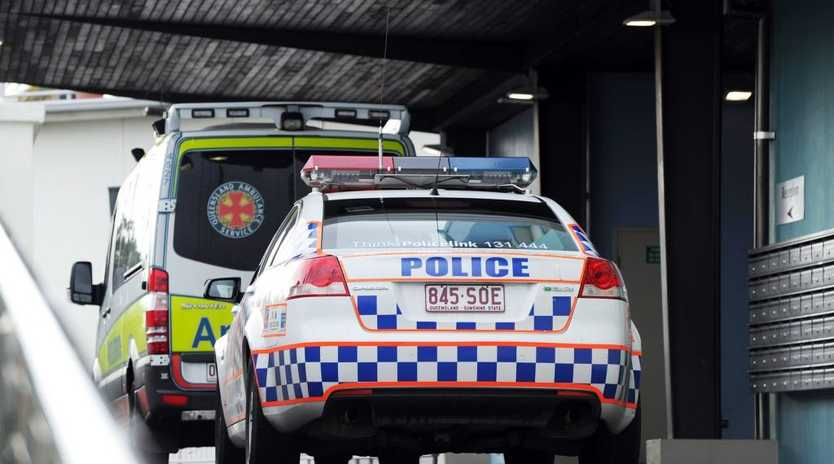 Bashed with a baseball bat - Police and ambulanced attended to a bashing victim at Peppers resort, Urangan.
