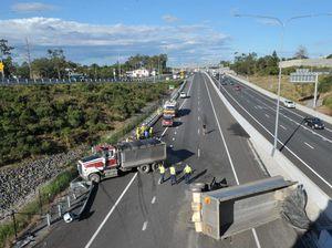 Ipswich Motorway open after Riverview truck crash