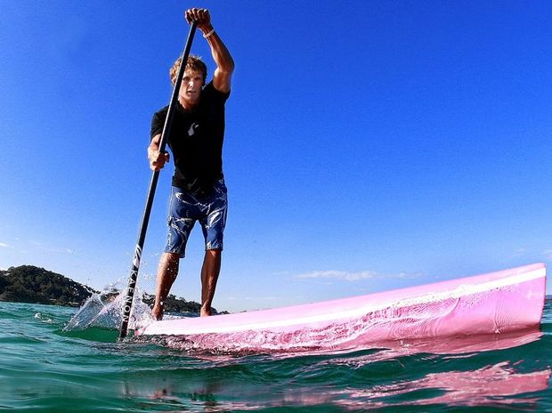 10x World Champion Jamie Mitchell is in Europe competiting and spreading the word on Paddleboarding. Photo: Blainey Woodham / Daily News