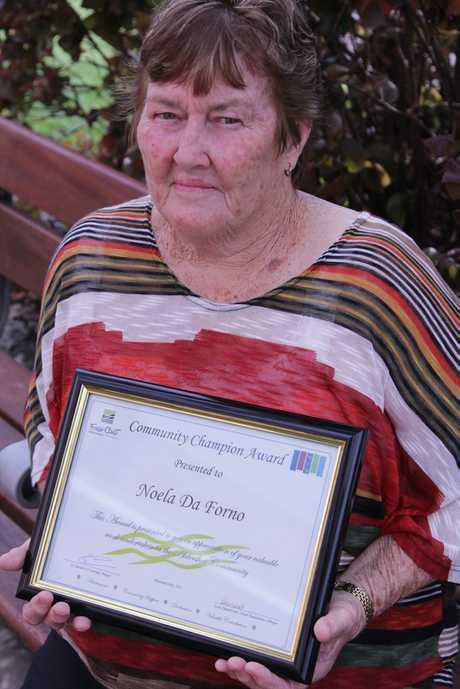 Noela da Forno has been given a Community Champion Award for her selfless efforts helping members of the Aldershot community.