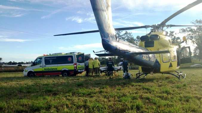 RACQ Careflight flew to the air of a five year old girl who fell from a horse on the Sunshine Coast.