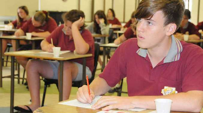 Year 9 Gympie High student Luis Jacobson at the first day of Naplan testing yesterday.