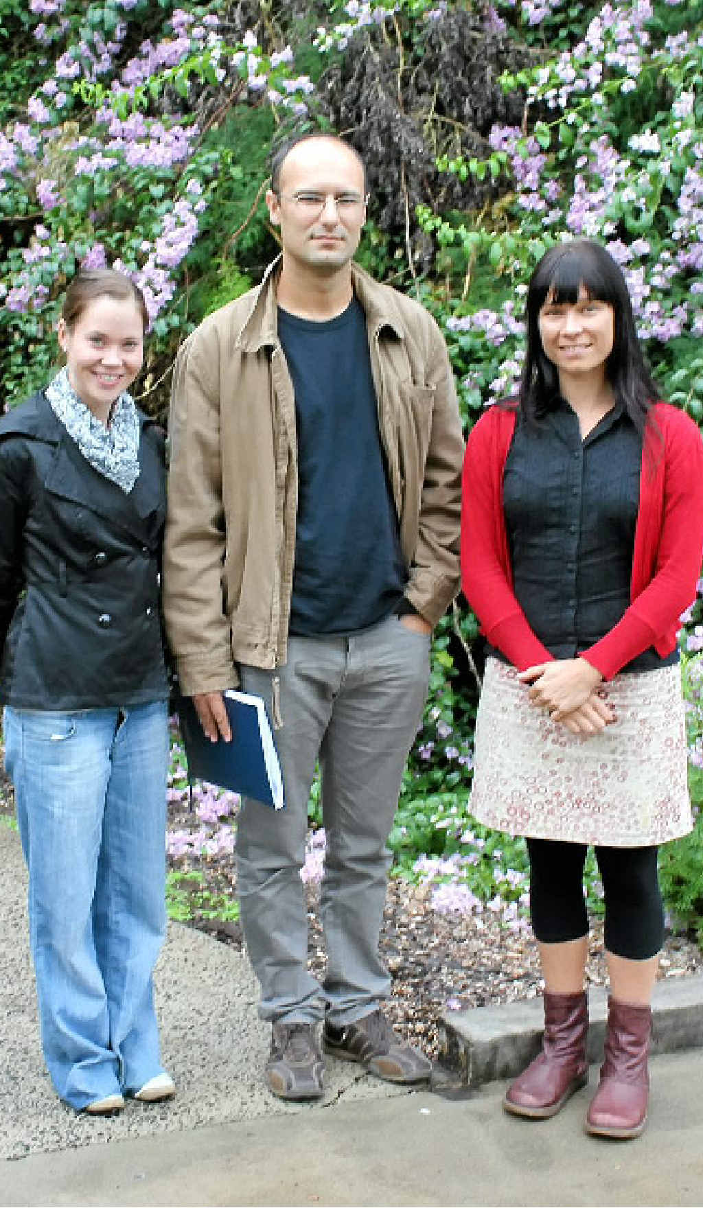 WATER TEAM: Research assistant Rachael Davis, Professor Isaac Santos and doctoral candidate Marnie Atkins.