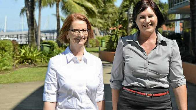 Prime Minister Julia Gillard, with Dawson Labor candidate Bronwyn Taha, promised the Mackay ring road would be built when she visited the region last month