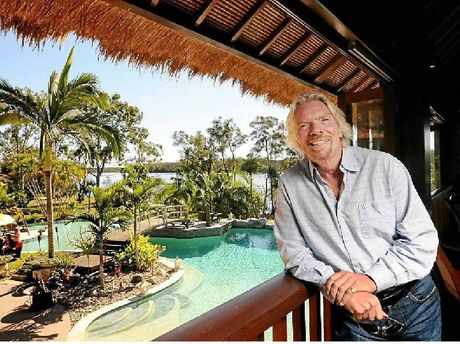 Sir Richard Branson on Makepeace Island, which he has offered to those affected by the Noosa North Shore house fires.