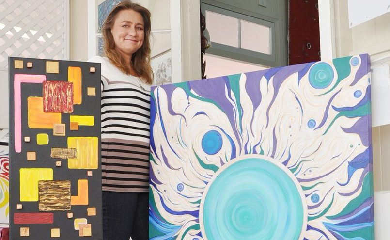 Donna Francis is celebrating her first art exhibition at Artspace in Yeppoon on May 17.