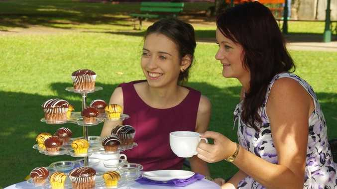 Fraser Coast Show Society's Miss Showgirl entrants Jayde Baker and Ashlee Schofield will be judged at a garden party on Sunday.