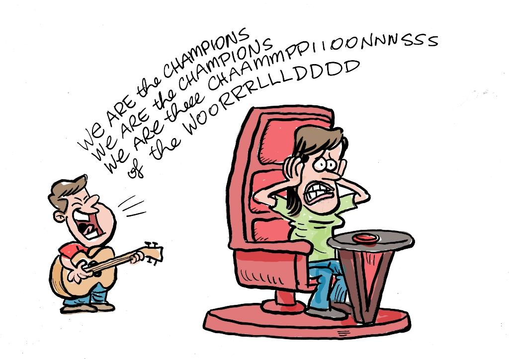 Harry Bruce cartoon for Supermum column May 16