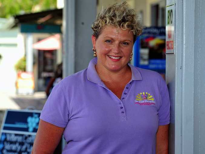 Leanne Walsh from Sunshine Butterflies support group puts her hand up to stand for the new Noosa Council.
