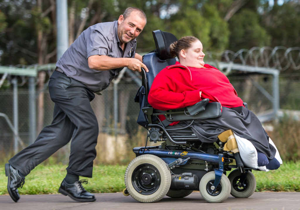 BROTHERLY LOVE: Ken Hoad will push a wheelchair 50km to raise funds to help his sister Emma.